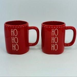 Rae Dunn HO HO HO Red Christmas Holiday Mugs - 2